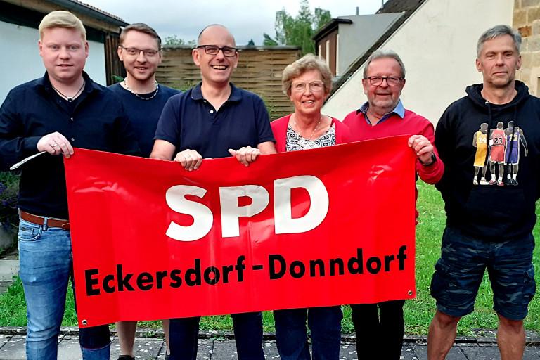 Neue Vorstandschaft des SPD-Ortsvereins Eckersdorf-Donndorf